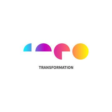 abstract transformation logo