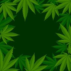 Marihuana, konopie indyjskie - tło