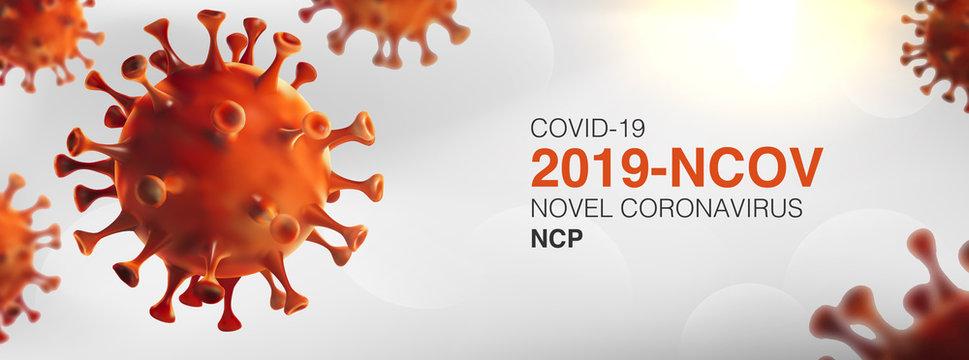 China epidemic coronavirus 2019-nCoV in Wuhan, Novel Coronavirus (2019-nCoV). Virus Covid 19-NCP. nCoV denoted is single-stranded RNA virus.