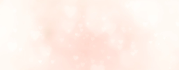 Fototapete - Abstract soft pastel background with hearts - concept Mother's Day, Valentine's Day, Birthday - spring colors