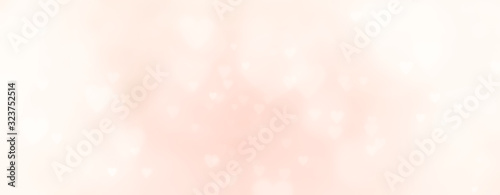 Abstract soft pastel background with hearts - concept Mother's Day, Valentine's Day, Birthday - spring colors