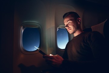 Internet connection during night flight