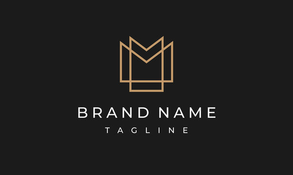 MM Logo Double M Monogram Design