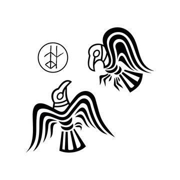 huginn and muninn - Odin's ravens