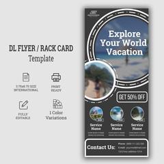 Holiday Travel Rack Card DL Flyer/ New Rack Card Design Rack Card Design