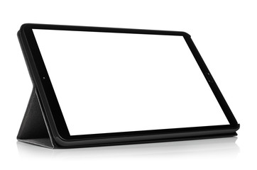 Tablet computer with blank screen, isolated on white background Fotobehang