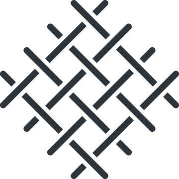 Knots weave icon, vector illustration