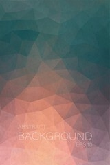 Flat simple abstract background with dust triangle shapes