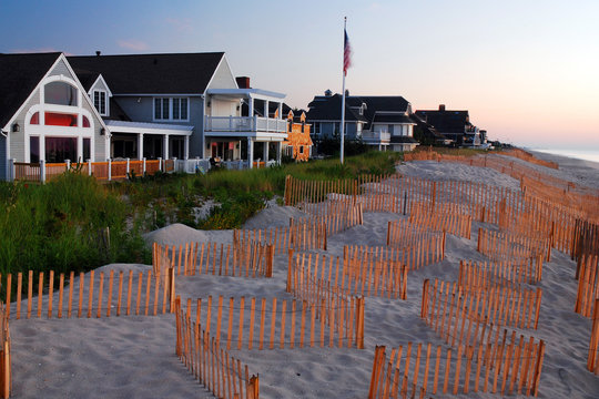 Stately Oceanfront homes along the New Jersey Shore
