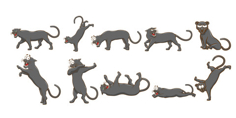 panther vector set collection graphic clipart