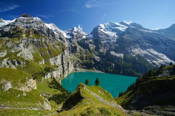 Öschinen Lake in Kandersteg