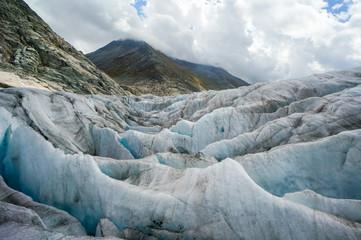 Aletsch Glacier in Switzerland Alps
