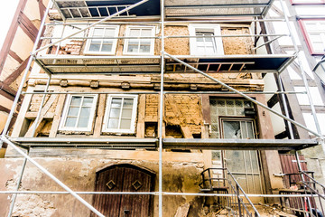 Dilapidated half timbered House