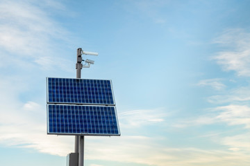 security camera with solar panels