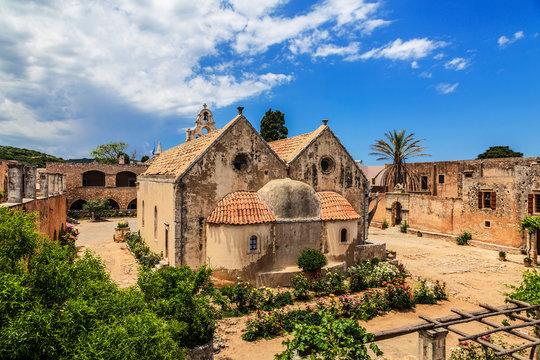 Orthodox monastery of Arkadi in Crete, Greece