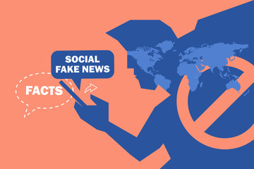 facts and fake news. social media are taking action against the spread of online misinformation.