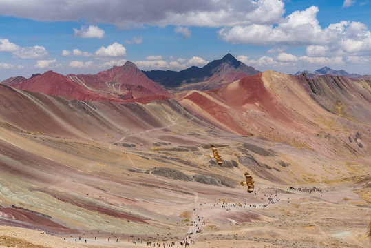 Beautiful view of Red Valley Peru South America