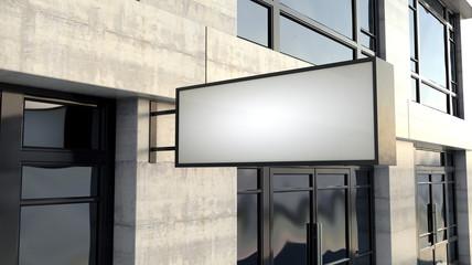 Rectangular Lightbox Sign Outside Shop Facade