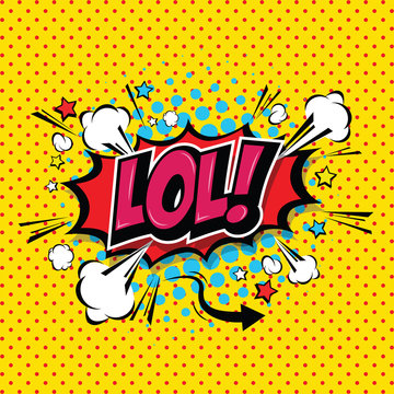 LoL! Comic Speech Bubble, Cartoon. art and illustration vector file.