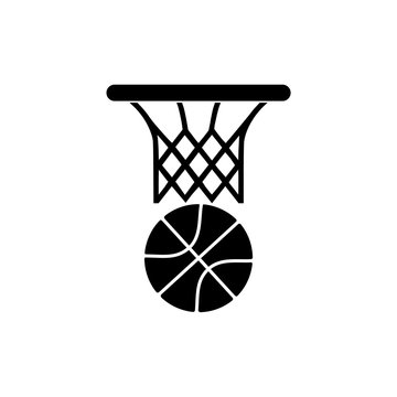 Basketball icon isolated on white background. Basketball icon simple sign