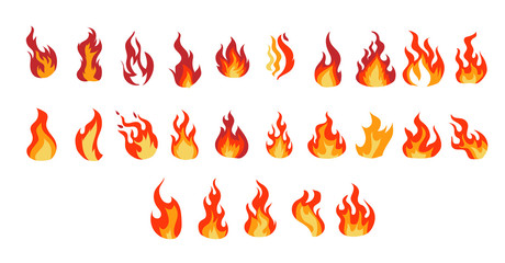 Fire vector set collection graphic clipart design