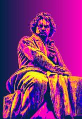 Photo sur Plexiglas Pop Art Ludwig van Beethoven, pop art