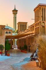 Wall Mural - Street with mosque in Old Dubai