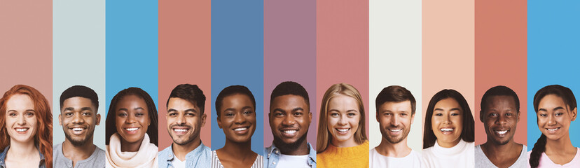 Composite image of international students photos over diverse backgrounds