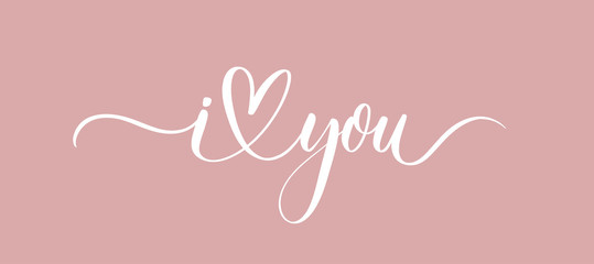 I love you - calligraphy inscription vector.Premium vector.