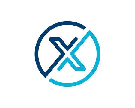 X Letter Logo Icon Vector