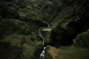 Stream in the icelandic mountains