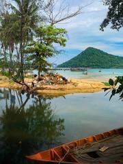 la gestion des déchet à Koh rong Sanloem, cambodge