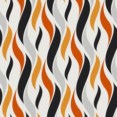 Foto op Canvas Kunstmatig seamless hot flame wave pattern. vector illustration