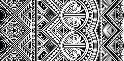 Polynesian tattoo style ornament vector