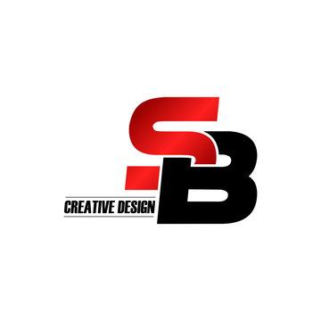 Letter SB logo design vector
