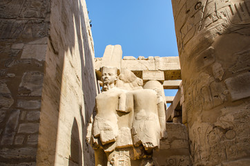 Egyptian Art. Ancient sculpture in the Karnak Temple