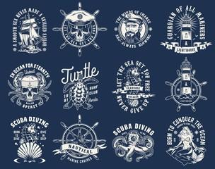 Vintage nautical prints