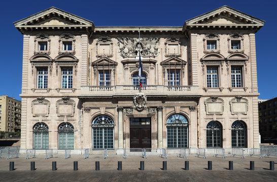 Historical city hall of Marseille, France