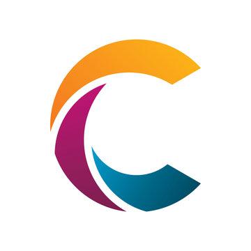 creative color letter c group logo design