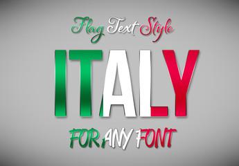 Italy Flag Text Style Mockup