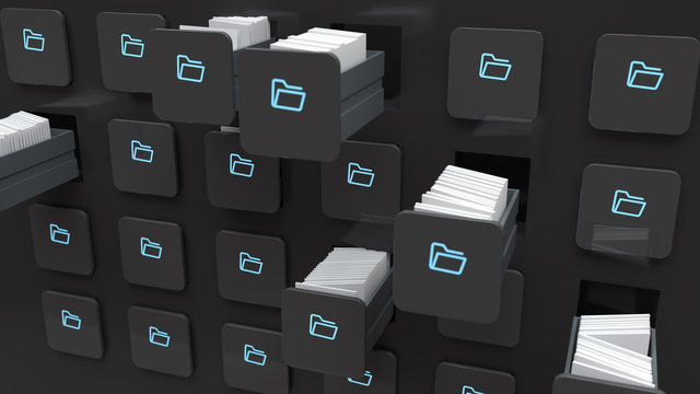 moving folders with files in storage