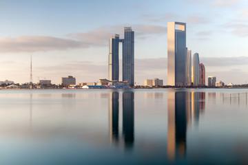 Fotorollo Abu Dhabi Abu Dhabi skyline during the peaceful morning