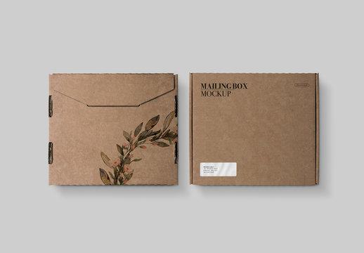 Mailing Box Mockup