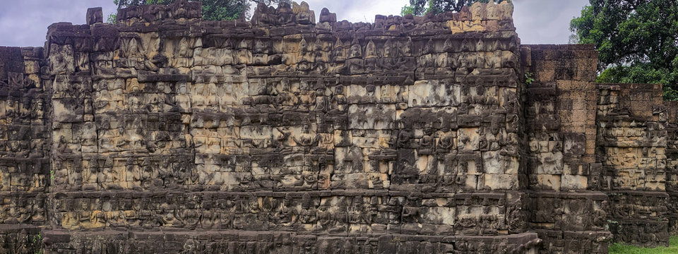 La terrasse du roi lépreux, Angkor Thom