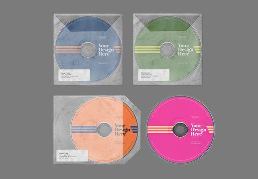 CD/DVD Plastic Envelope Mockup