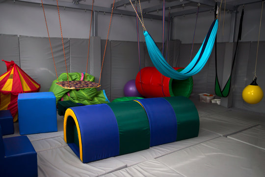 sensory integration room in the center for children