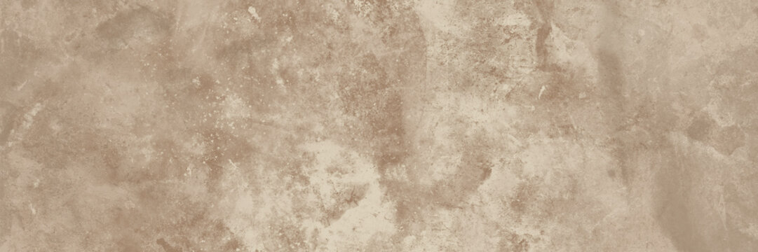 Old beige wall texture abstract background. Panoramic view.