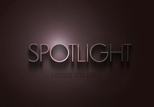 Spotlight Text Effect Mockup
