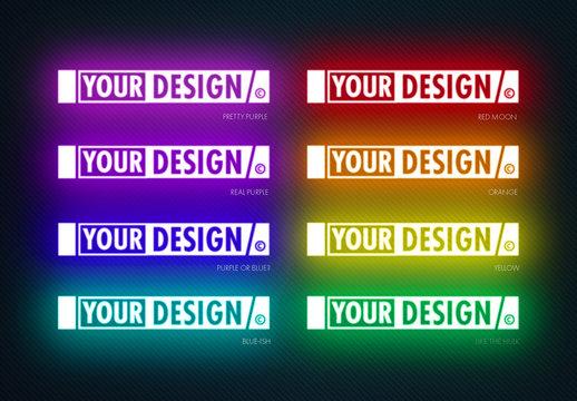 Glowing Logo Design Effect Mockup
