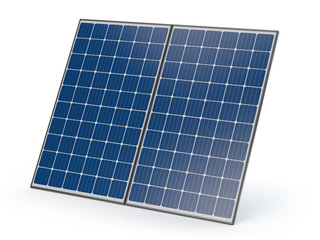 Isolated solar panels - 3D illustration